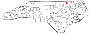 Roanoke Rapids, North Carolina - Image: NC Map doton Roanoke Rapids
