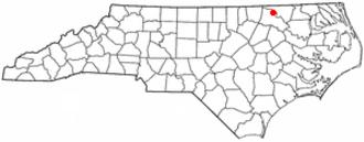 Roanoke Rapids, North Carolina - Image: NC Map doton Roanoke Rapids
