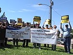 NM Unions Protest John McCain at Hotel Albuquerque (2672898249).jpg