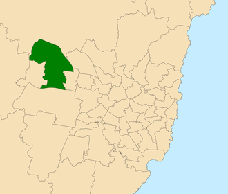 Electoral district of Londonderry - Location within Sydney