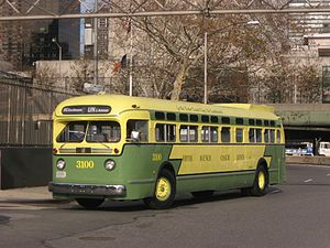 Retired MTA Regional Bus Operations bus fleet - Image: NYC Transit Authority FAC Co GM TDH 5106 Old Look 3100