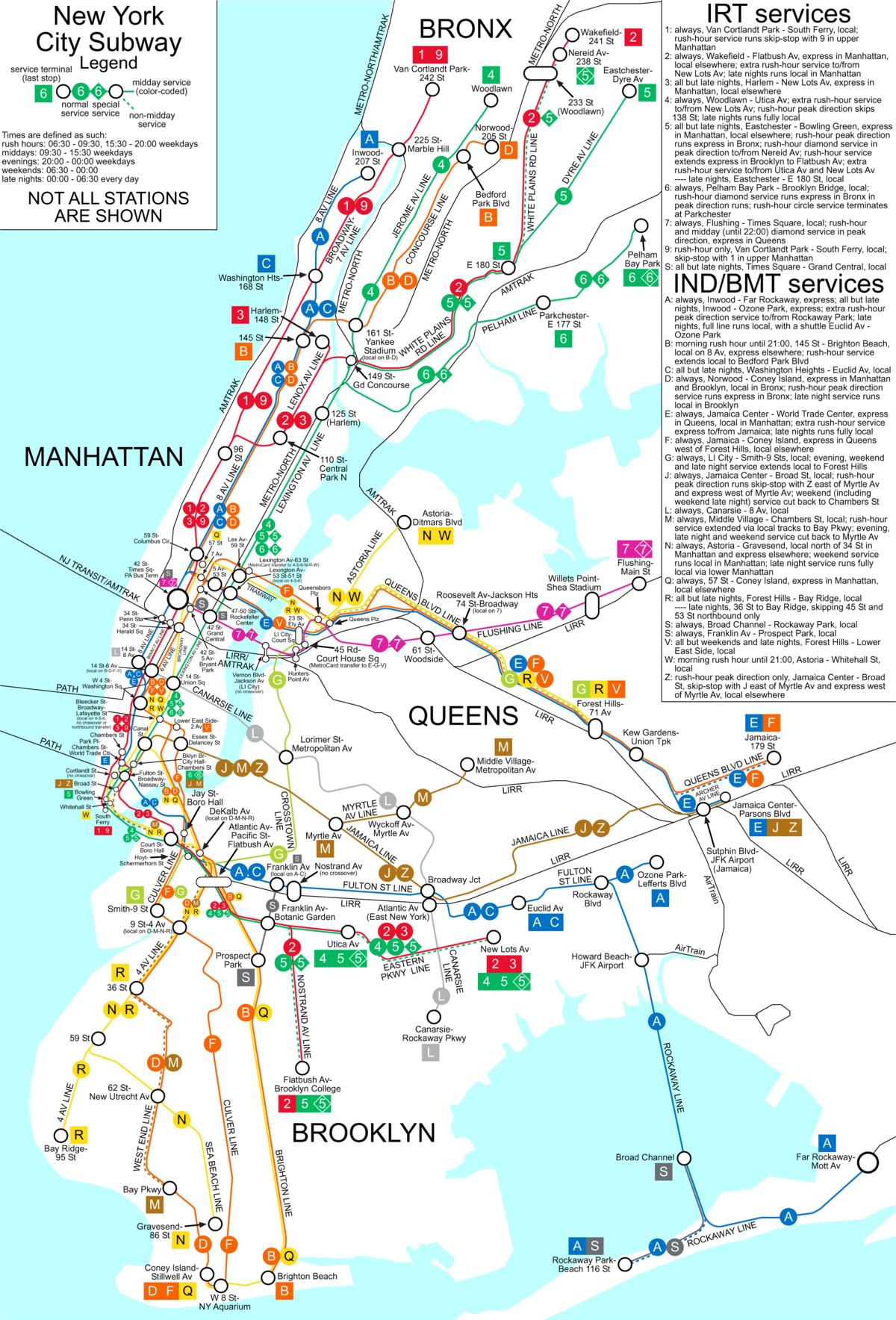 New York City Subway's skip-stop 9 service to make its last run May Printable Nyc Subway Map on