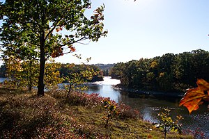 The Mohawk River from Peebles Island State Park