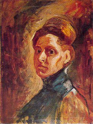 Nadežda Petrović - Petrović's self-portrait.
