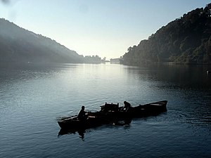 Lakes of Kumaon hills - Nainital lake in the morning