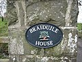 Nameplate for Braidujle House - geograph.org.uk - 373591.jpg