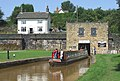Narrowboat emerging from the Harecastle Tunnel - geograph.org.uk - 556231.jpg