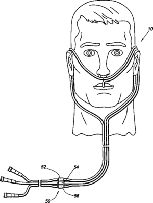Cannula - Drawing of a nasal cannula