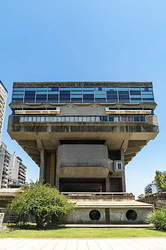 National Library of the Argentine Republic - The National Library building, designed in 1961 by Clorindo Testa, Francisco Bullrich and Alicia Cazzaniga.