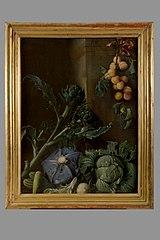 Nature morte aux légumes et abricots