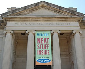 Virginia Historical Society - Image: Neat Stuff Banner