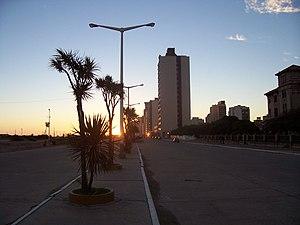 Necochea Partido - Necoche Avenue, one of the main roads of the partido.