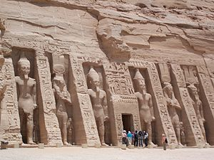 Nefertari Temple Abu Simbel May 30 2007.jpg