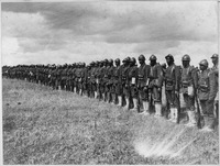 Negro Troops in France. Picture shows part of the 15th Regiment Infantry New York National Guard or . . . - NARA - 533488