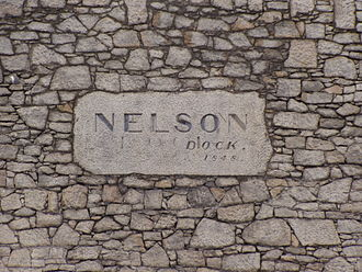Nelson Dock, Liverpool - Sign on the dock wall