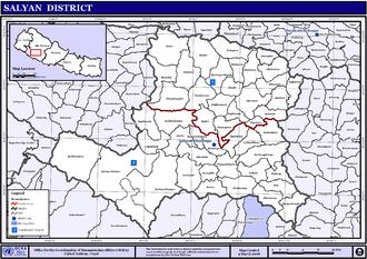 Salyan District, Nepal - VDCs in Salyan