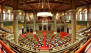 Government of New York (state) - The New York State Assembly Chamber of the New York State Capitol in Albany