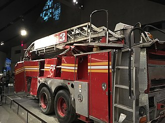 Emergency workers killed in the September 11 attacks - FDNY Truck at the September 11 memorial