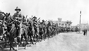 New Zealand Mounted Rifles Brigade - Image: New Zealand Mounted Brigade Cairo 1914