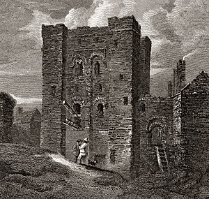 The Castle, Newcastle - The castle in 1814.