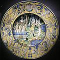 Ngv, maiolica di deruta, piatto con diana e atteone, 1525.JPG