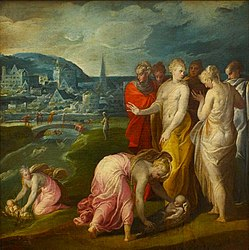 Niccolò dell'Abbate: Moses Rescued from the Nile