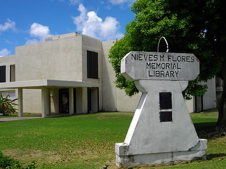 Guam Public Library System Nieves M. Flores Memorial Library, Hagatna Nieves M. Flores Memorial Library.JPG