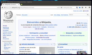Interfaz Australis de Firefox Nightly