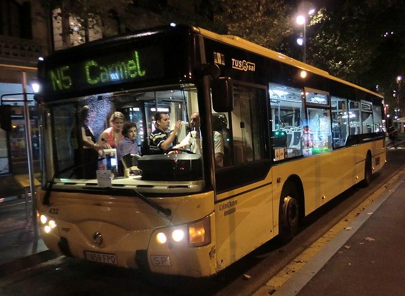 Nitbus (night bus) em Barcelona