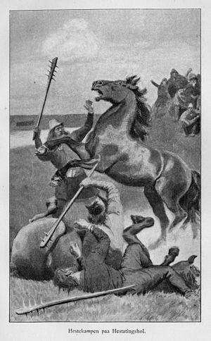 Hestavíg - Hestavíg, Andreas Bloch (1898).