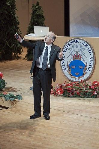 Saul Perlmutter - Perlmutter presenting his Nobel lecture at Aula Magna