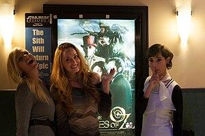 Eliza Swenson - Eliza Swenson (center) with Noel Thurman (left) and Paulie Rojas