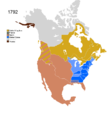 Non-Native American Nations Control over N America 1792.png