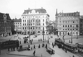 Norrmalmstorg - Norrmalmstorg in the 1900s