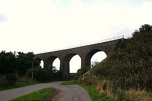 Montrose and Bervie Railway - North West Water railway Bridge crosses the River North Esk