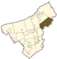 Northampton county - Lower Mount Bethel Township.png