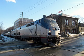 Vermonter (train) - The Vermonter at Brattleboro, Vermont, in March 2015