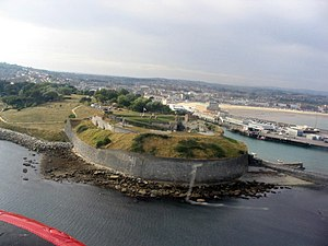 Nothe Fort - Nothe Fort from the air.