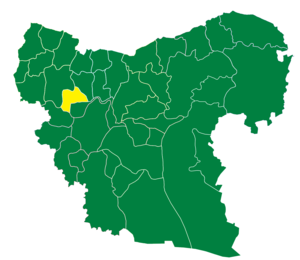 Azaz District - The administrative center of Nubl Subdistrict shown above is the city of Nubl.