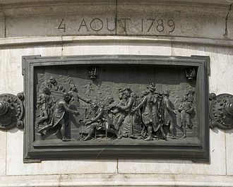 "French nobility - The abolition of privileges, relief by Léopold Morice at the ""Monument to the Republic"", Paris"