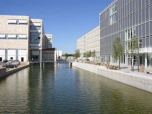 Ørestad - The Faculty of Humanities by the University Canal