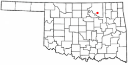 Location of Hominy, Oklahoma