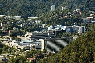 Fyllingsdalen - Typical apartment buildings and terraced houses in Fyllingsdalen