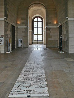Meridian line running through the Paris Observatory in Paris, France