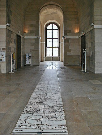 History of the metric system - The Paris meridian which passes through the Paris Observatory (Observatoire de Paris). The metre was defined along this meridian using a survey that stretched from Dunkirk to Barcelona.