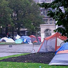 Occupy tent city in Halifax Nova Scotia (2011) & Tent city - Wikipedia