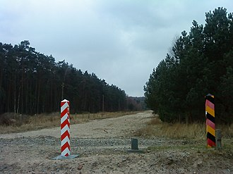 Former eastern territories of Germany - Oder–Neisse line at Usedom
