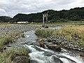 Ogatagawa River and torii of Ninomiya Shrine from Harajirinotaki Bridge 3.jpg