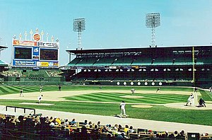 Comiskey Park - Comiskey Park in 1990, its final season