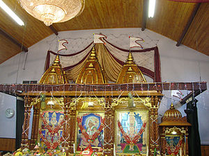 Shri Swaminarayan Mandir, Oldham - Central altar